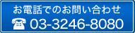 お電話でのお問い合わせ 03-3246-8080